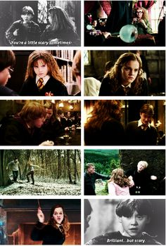 Ron and Hermione. Brilliant, but scary! Oh Ron....