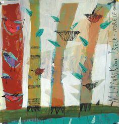Mixed media painting by Małgorzata Lazarek