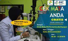 Pemeriksaan kesehatan mata GRATIS. Balikpapan, Kalimantan Timur Kalimantan Utara. Dr. Lilik Sujarwati Sp.M dan Dr. Kamil Suraji Sp.M,Klinik Mata RSPB