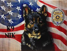 Now that it has been gifted, I can post. This was a commission. This is K9 Nik, a highly decorated member of the Broomfield Police Dept in Colorado. K9 Nik crossed the Rainbow Bridge a few weeks ago. This was presented to his owner, handler. It was truly and honor to paint him.   RIP Nik. Thank you for your service. Run Free!  He was painted on a RedeemWood canvas using acrylics.