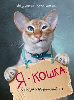 """I'm a cat!"" Tatiana Doronina Art, Russia"