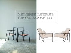 Minimalist 'skinny' furniture; get the designer look for less!: Whether you love brass detailing, glamorous velvet, or stark industrial-style design, here are some minimalist pieces of designer-inspired 'skinny' furniture to suit any budget… http://yespleaseblog.co/minimalist-furniture/