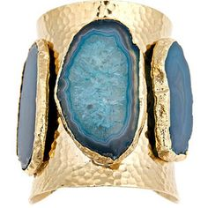 Jordana Agate Cuff.... the turquoise and gold colors are just dreamy together