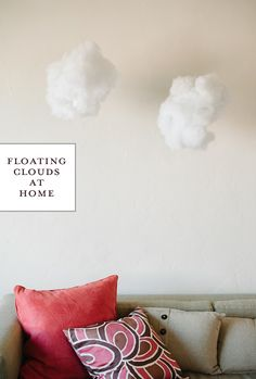 """Our feng shui advisor says we need """"heaven luck"""" in our NW dining room. These floating clouds might do the trick! {a subtle revlery}"""