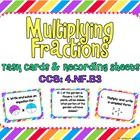 Multiplying Fractions Task Cards, CCS: 4.NF.B4, 5.NF.B4This set of 20 task cards covers multiplying fractions in common core standard 4.NF.B4 and... 5th Grade Classroom, 5th Grade Math, Classroom Ideas, Teaching Math, Teaching Resources, Teaching Ideas, Math Coach, Multiplying Fractions, Math 2