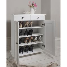 Heathfield Shoe Storage Unit In White Noa Nani intended for sizing 1000 X 1000 Small White Shoe Storage Cabinet - Everyone needs storage cabinets. Shoe Storage Cabinet With Drawer, Shoe Cabinet Design, Wood Shoe Storage, Wooden Shoe Racks, Storage Cabinets, Storage Drawers, Shoe Cabinets, Shoe Cupboard, Cupboard Drawers