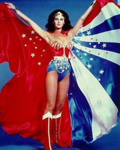 Wonder Woman is an American television series based on the DC Comics comic book superheroine of the same name. Starring Lynda Carter as Wonder Woman/Diana Prince and Lyle Waggoner as Steve Trevor Sr & Jr, the show originally aired from 1975 to Linda Carter, Gal Gadot, Amazons Wonder Woman, Super Heroine, Baby Boomer, Christopher Eccleston, Capes For Women, Wonder Women, Marie Claire