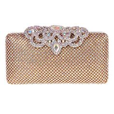 Fawziya Crown Clutch Purse Bling Hard Box Rhinestone Crystal Clutch Bag - http://www.darrenblogs.com/2017/02/fawziya-crown-clutch-purse-bling-hard-box-rhinestone-crystal-clutch-bag/