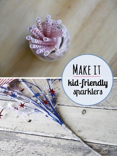 DIY toddler friendly sparklers - perfect for getting the little ones in on the festivities.