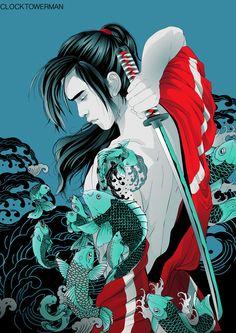 nightversion:    Samurai Koi by ~clocktowerman