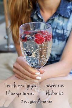 Berry wine spritzer.
