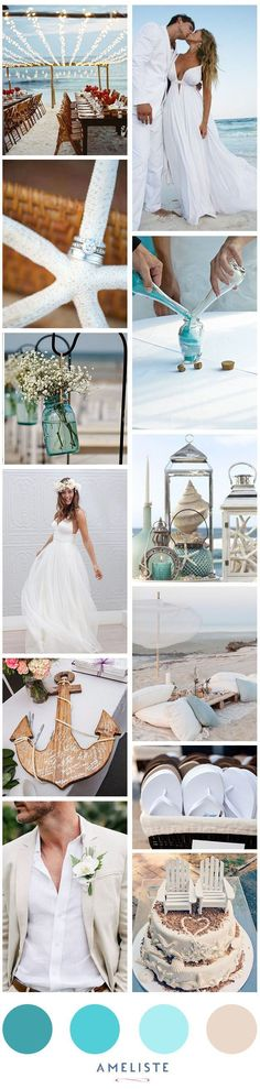 Beach Wedding // Mood Board Beach Wedding Party // Organiser son mariage à la plage (Wedding Party Top)