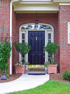 front door paint colors | painted front door is a warm welcome.