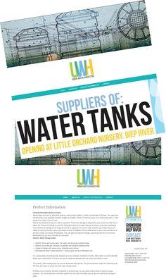 Website for Urban Water Harvesting. www.urbanwaterharvesting.co.za Product Information, Web Design, Nursery, Urban, River, Website, Design Web, Baby Room, Child Room