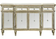 Shop for a Silver Crowne Accent Credenza at Rooms To Go. Find Accent Cabinets that will look great in your home and complement the rest of your furniture.
