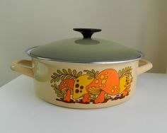 Merry Mushroom Cooking Pot by Bluebirdsshop on Etsy, $15.00
