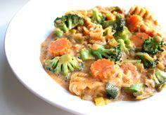 """Egentlig burde jeg ha kalt oppskriften """"Curry in a hurry"""", for her har du middag på 15 minutter."""