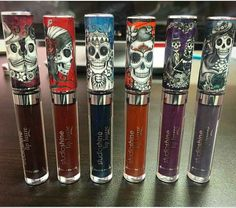 New Dia de los Muertos Lip Lustre Liquid Lipstick Collection is launching just in time for Halloween   at LA Splash Cosmetics Oct 26th at 12 pm PST!
