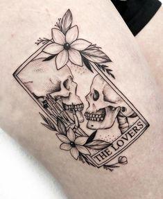 Dope Tattoos, Pretty Tattoos, Mini Tattoos, Unique Tattoos, Beautiful Tattoos, Leg Tattoos, Body Art Tattoos, Tatoos, Skeleton Couple Tattoo