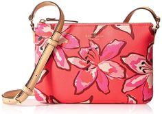 Kate Spade Hawthorne Lane Floral Carolyn Small Crossbody Shoulder Bag Coral #katespade #MessengerCrossBody
