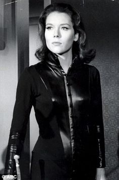 """Diana Rigg as emma peel in """"The Avengers"""""""