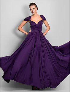 bruidsmeisje jurk vloer lengte jersey schede kolom converteerbare jurk - USD $ 64.99