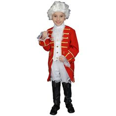 Your son or favorite young man is sure to get plenty of complements when wearing this realistic Victorian costume, which is perfect for a Halloween party or school play. Just add shoes and a wig to complete the theater-quality ensemble.