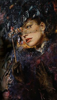 Raindrops and Roses — Vladimir Muhin Art (detail) Raindrops And Roses, Virtual Art, Great Paintings, Art Hoe, Yesterday And Today, Vintage Pictures, Female Art, Art Images, Modern Art
