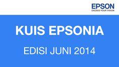 Menangkan 3 voucher belanja Hypermart @ Rp200.000 dan 3 buah t-shirt Epson dengan mengikuti Kuis Epsonia periode Juni 2014.
