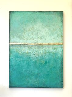 Sold - Golden Greece - abstract landscape, 50 cm x 70 cm, teals, turquoise, yellows and gold leaf Abstract Landscape, Abstract Art, Yellow Painting, Gold Art, Sea Foam, Gold Leaf, Greece, Art Pieces, Decor Ideas