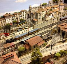 Amazin model of a town in Portugal, trams n all!