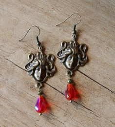 "Ooak☥Craft - 'Musa' earrings > Pendientes ""Musa"""