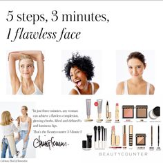 Beautycounter is working for you! Who doesnt need a quick morning routine! www.beautycounter.com/sarahcotten