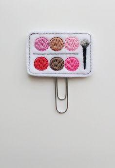 Blush Make-up Felt Paperclip | Bookmark | Paper Clip | Planner Accessories | Feltie | Planner Clip | Date Night | Eye Shadow Planner Clip