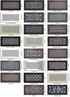 CUSTOM METAL REGISTERS AND AIR RETURN GRILLES - Vent Covers Unlimited