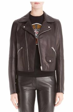 Main Image - Loewe Leather Moto Jacket