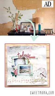 Layout Scrap - inspiración en revistas - sketches
