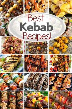 Best Kebab Recipes Everything From Chicken, Steak, Potatoes, Seafood, Vegetable Skewers And More Everyone Will Find A New Favorite Kebab Recipe To Try Via Gimmesomegrilling Steak Kabobs, Shish Kabobs, Chicken Kebab Recipe Skewers, Grilled Shrimp Skewers, Grilled Food, Chicken Kabobs, Antipasto, Vegetable Skewers, Kebabs On The Grill