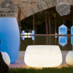 Gandia Blasco Sahara Illuminiated Outdoor Planter with Light | Stardust