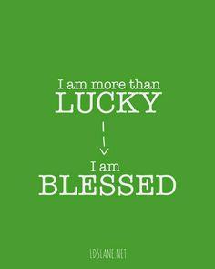 LDS Lane: I am Blessed - free printable