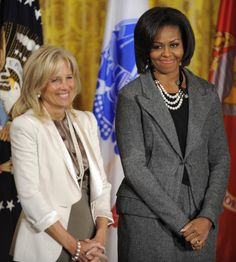 Joe Biden Wife | Obama (R) and Dr. Jill Biden, wife of Vice President Joe Biden ...
