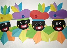 zwarte piet vouwen Easy Easter Crafts, Fall Crafts, Diy And Crafts, Christmas Crafts, Diy For Kids, Crafts For Kids, Transformer Birthday, Origami, Saint Nicolas
