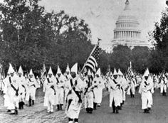 the KKK walking the streets in the 1920s