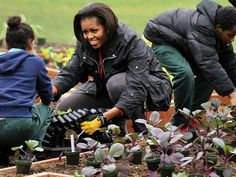 Michelle Obama and the White House garden
