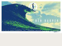 Ben Harper Santa Barbara 11.15.2013 Acoustic Tour Poster
