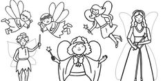 Fairy Colouring Sheets - fairy, fairies, traditional tales, fairy colouring sheets, traditional tales colouring sheets, fantasy, fantasy colouring sheets