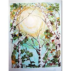 Wendra 'Birch Tree' Canvas Art | Overstock.com Shopping - Top Rated Trademark Fine Art Canvas
