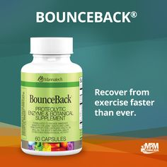 Our BounceBack capsules: reduce muscle pain and stiffness due to overexertion or physical activity, aid the body's natural recovery process, support optimal joint and cartilage health, provide immune system support and deliver antioxidant support.
