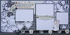 """Here are a couple of kits I made for a wedding celebration. The first one is titled """"Rehersal Dinner"""" a. Love Scrapbook, Wedding Scrapbook Pages, Scrapbook Sketches, Scrapbook Page Layouts, Scrapbook Cards, Scrapbooking Ideas, Wedding Album, Wedding Book, Wedding Photos"""