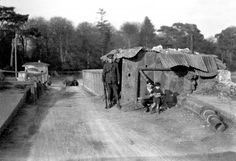 Irish Civil War Free State Army checkpoint near Rochestown, Co. Cork in August Photo b/w, soldier, alternative housing, history. Irish Independence, Easter Rising, History Posters, Civil Wars, Free State, Irish Eyes, Photo B, Military History, Dublin